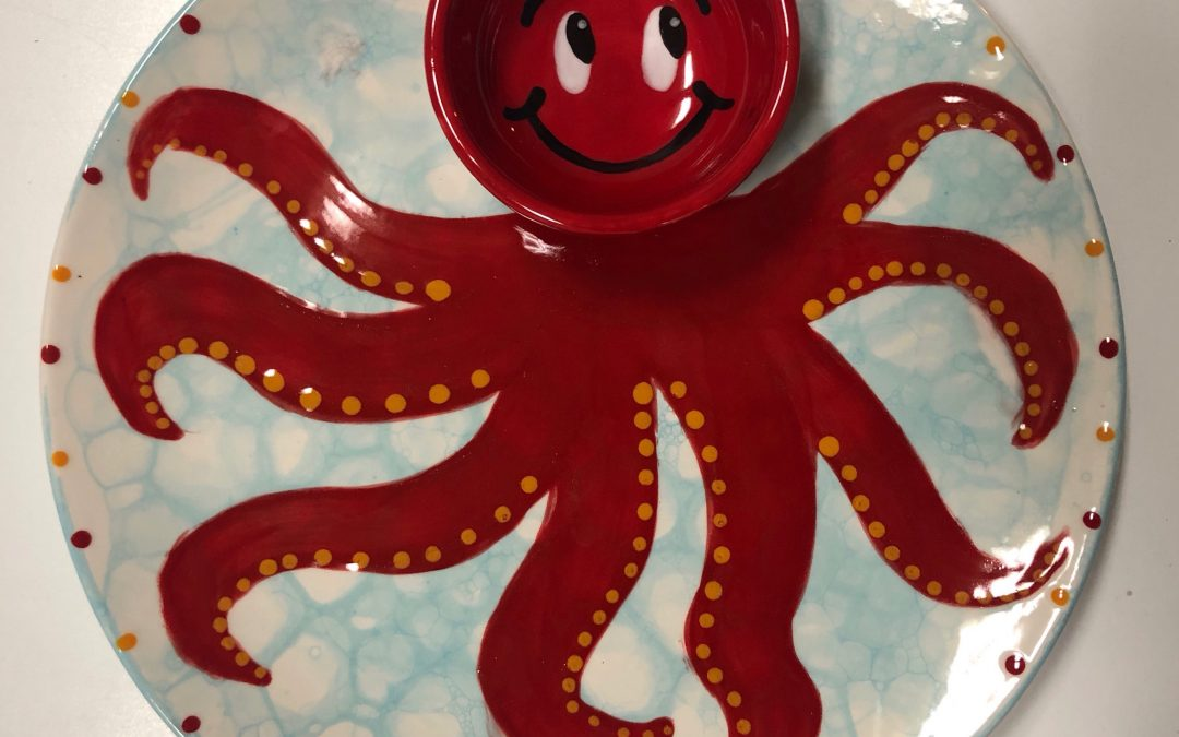 Kids Art Night – Octopus Chip N' Dip Plate